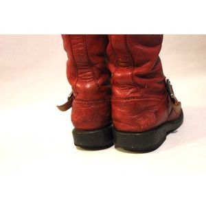 Frye Shoes - Frye 'Veronica Slouch' Tall Red Moto Inspired Boot